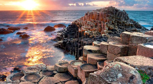The Giant's Causeway is described as 'timeless' by Lonely Planet