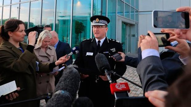 Greater Manchester Police chief constable Ian Hopkins speaks to the media in Manchester where he said that the death toll from the Manchester bomb attack has risen to 22 with 59 injured. PRESS ASSOCIATION Photo. Picture date: Tuesday May 23, 2017. See PA story POLICE Explosion. Photo credit should read: Peter Byrne/PA Wire