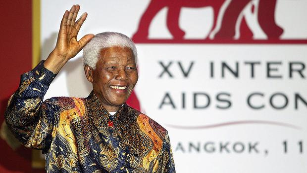 BANGKOK, THAILAND-JULY 16: Former President Nelson Mandela speaks at the closing ceremony of the 15th International AIDS conference  July 16,2004 in Bangkok ,Thailand. United Nations Program on HIV/AIDS states that the world is loosing the fight against the AIDS virus, which last year infected a record 5 million people and killed 3 million.   (Photo by Paula Bronstein/Getty Images)