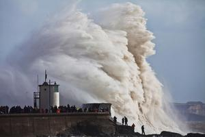 FIXATION YOUNG PHOTOGRAPHY BURSARY FINALIST Gigantic waves hit the sea wall at Porthcawl in South Wales on February 8, 2014. Picture: Henry Nicholls