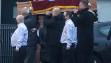 Funeral of loyalist Hugh 'Boot' Hill from his home on Gainsborough Drive in Belfast