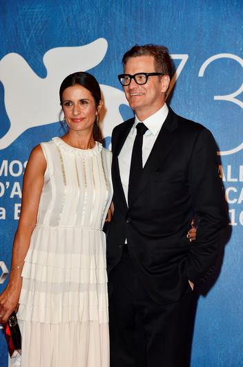 VENICE, ITALY - SEPTEMBER 02:  Livia Giuggioli and Colin Firth attend the premiere of 'Nocturnal Animals' during the 73rd Venice Film Festival at Sala Grande on September 2, 2016 in Venice, Italy.  (Photo by Pascal Le Segretain/Getty Images)