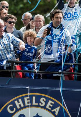 Chelsea owner Roman Abramovich during a parade to celebrate winning the Barclays Premier League, in London. PRESS ASSOCIATION Photo. Picture date: Monday May 25, 2015. See PA story SOCCER Chelsea. Photo credit should read: Daniel Hambury/PA Wire.