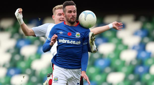 Andy Waterworth netted his ninth goal of the season against Carrick.
