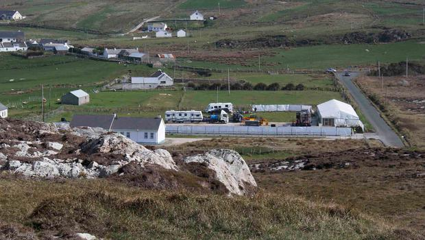 Cast and crew areas being readied ahead of weekend filming - roads in the area will be closed for several days. Picture James Whorriskey