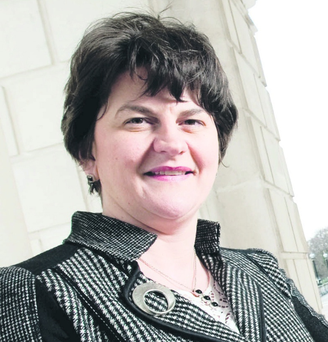 Big boost: Arlene Foster says the air routes conference is worth £1.3m to Belfast, in the short term, and should reap much bigger long-term benefits