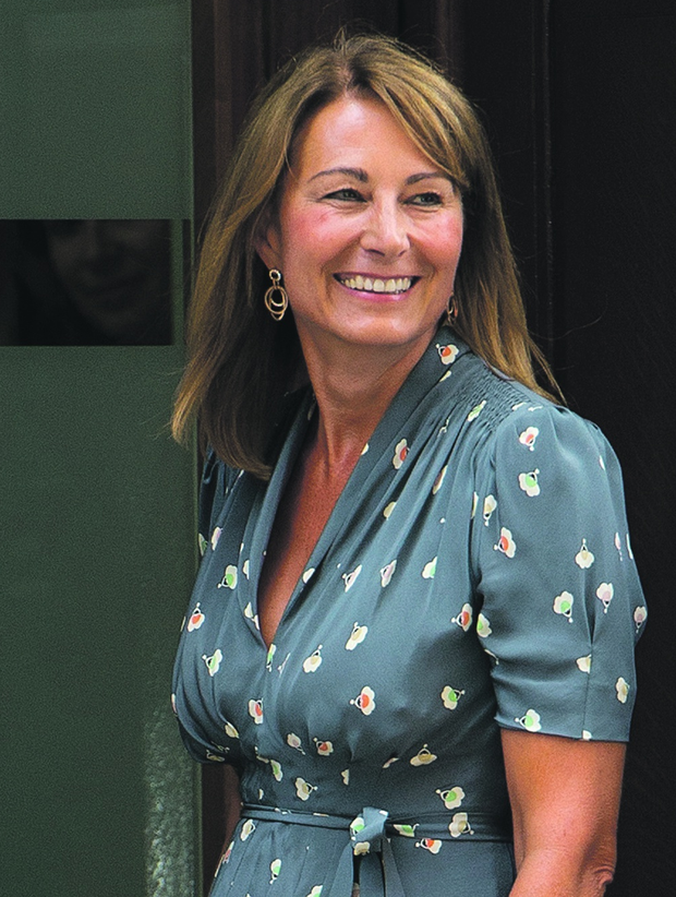 Carole Middleton arrives at The Lindo Wing to visit Catherine, Duchess Of Cambridge and her newborn son at on July 23, 2013 in London, England.