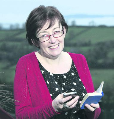 Bronagh McAtasney pictured today with her 1981 diary