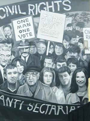 The Civil Rights mural in the Bogside.