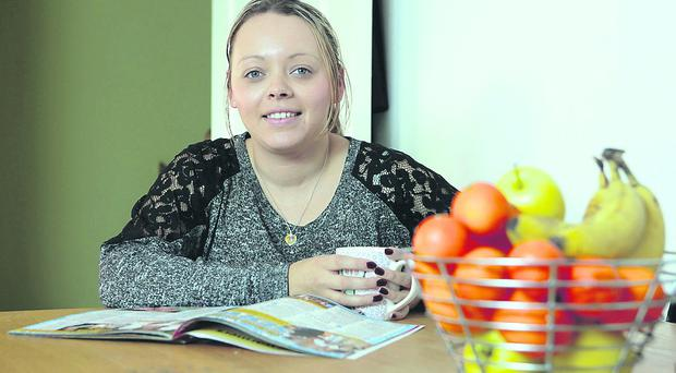Caring mum: Joelene Byrne now serves up smaller portions at family meal-times