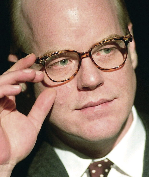 Philip Seymour Hoffman as Truman Capote.
