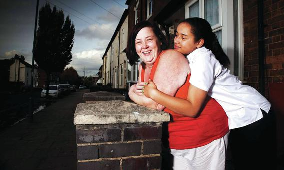 Signing on: Deirdre Kelly, known as White Dee and her daughter Caitlin (16) from benefits Street