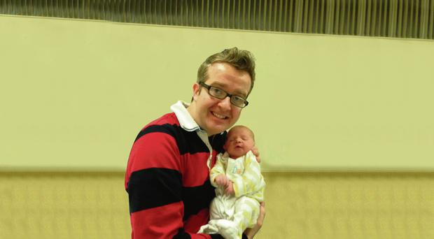 David Meade pictured with his son George