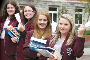 St Dominics Grammer School for Girls were celebrating GCSE 'Twin' success after two sets of twin got star A Grades.
