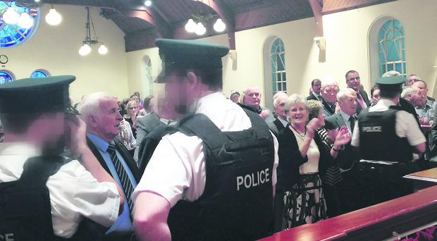 Ballynahinch Congregational Church protest
