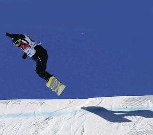 Great Britain's Aimee Fuller competes in the slopestyle qualification heats at Rosa Khutor Extreme Park during the Sochi 2014 Winter Olympics