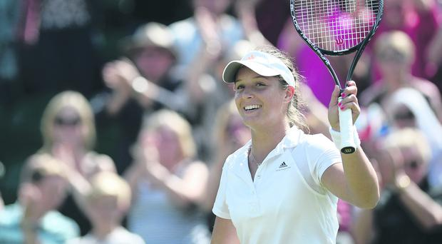 Laura Robson has revealed that she was on holiday when she received her last-minute wildcard entry to the US Open