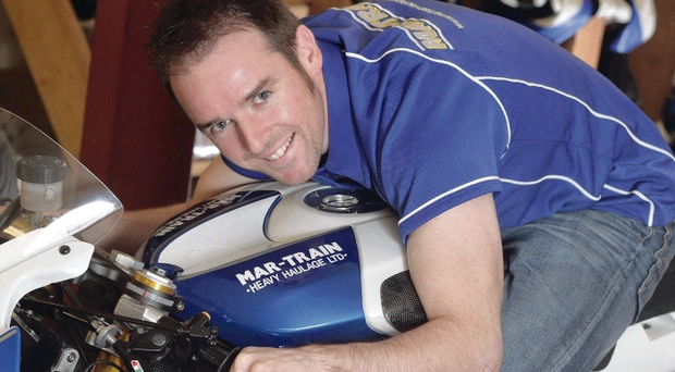 Alastair Seeley gets to grips with the R6 Yamaha he will ride at the North West 200 in May