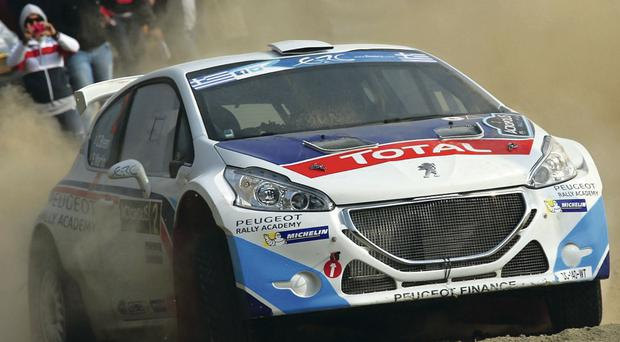 Green light: Craig Breen has a spring in his step after winning the Acropolis Rally but his ultimate goal is to add his name to the list of Circuit of Ireland winners. Breen will have Peugeot's new 208 T16 at his disposal