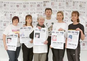 Richey's sister Rachel Elias (second left) with the parents of Madeleine McCann and other families at a 2011 charity run