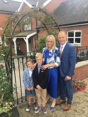 Lynne McCabe with husband Jonnie and sons Clarke and Austin
