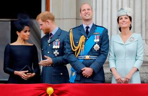 Fab Four: Meghan, Harry, William and Kate at Buckingham Palace in 2018