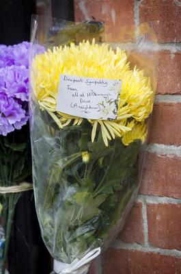 Flowers laid in tribute of Adrian Ismay