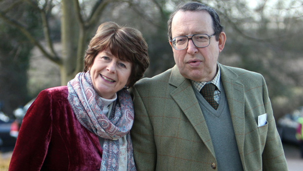 Pam Ayres with her husband Dudley Russell