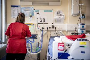 'This newspaper has previously highlighted the scandalous level of spending on agency nursing and midwifery staff in the Northern Ireland health service.' Pictured is a Covid-19 ward in the Nightingale hospital, Belfast