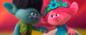 Fun roles: Poppy (voiced by Anna Kendrick) and Branch (Justin Timberlake) in Trolls World Tour