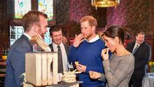 The Duke and Duchess sampling cake
