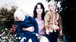 Horror story: Sheila Caffell was murdered along with her twin sons Nicholas and Daniel and her parents