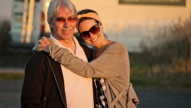 Devoted daughter: Aine with dad Hugo