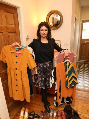 Shopping around: Carla Rollock Kieran with some of her recent discoveries