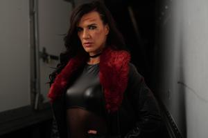 Action woman: Natalie Burn, who stars in new thriller Acceleration