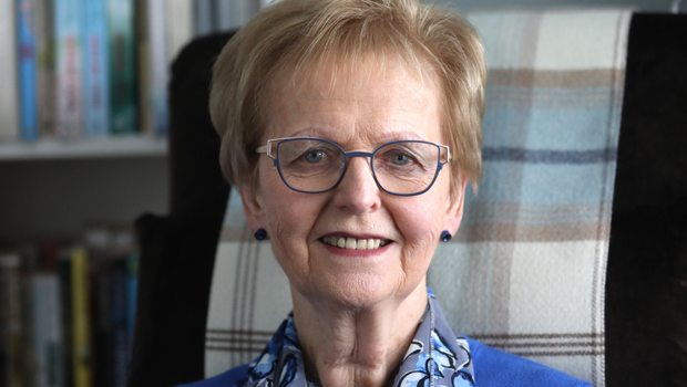 Leading role: Ruth Patterson OBE was the first woman to be ordained as a minister in the Presbyterian Church