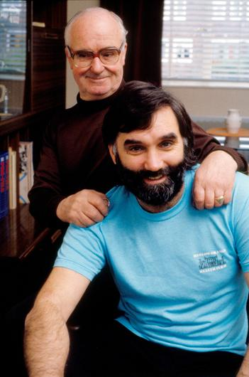 George Best at home in Belfast with his father Dicki