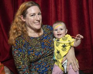 Tanya with baby daughter Isola, has worked from home for 15 years