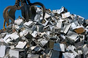 A mountain of old appliances