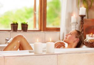 Soothing soak: a hot bath could help you sleep better at night