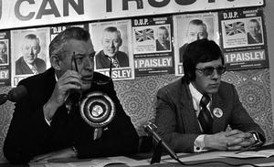 Ian Paisley with Peter Robinson