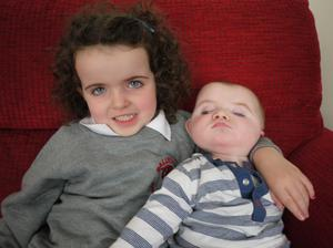 David Meade's children Tilly and George