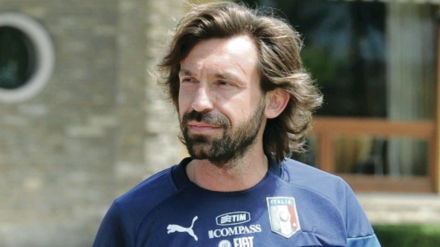 Andrea Pirlo, one of the oldest players in the tournament, but still one of the best