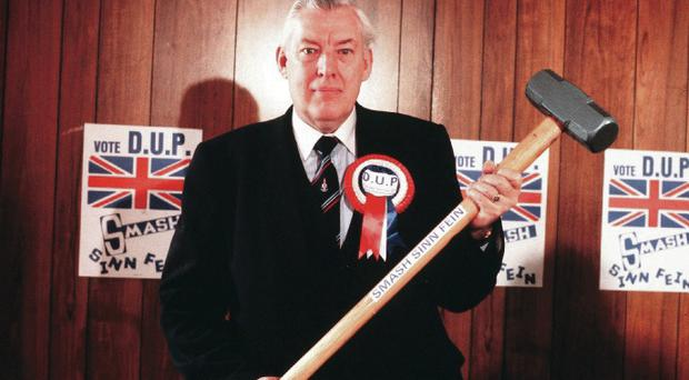 Ian Paisley before an election