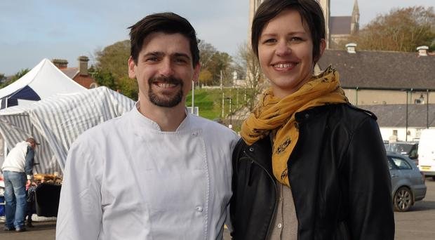 Food lovers: Sean and Ramune Farnan have embraced their new life in Co Armagh