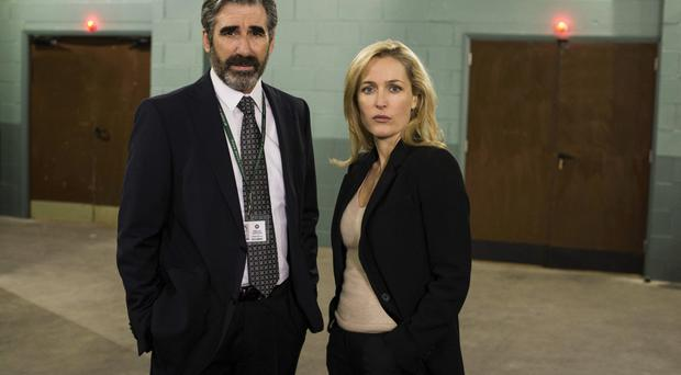 Arresting performance: John Lynch's character in The Fall, Assistant Chief Constable Jim Burns, has unfinished business with DSI Stella Gibson, played by Gillian Anderson