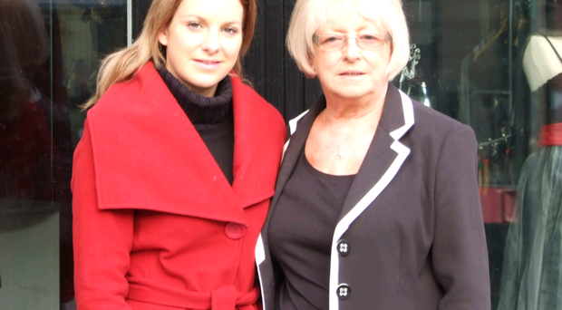 Family ties: Lynn Stevenson with mum Norma Diffley outside Re-Creations in Donaghadee