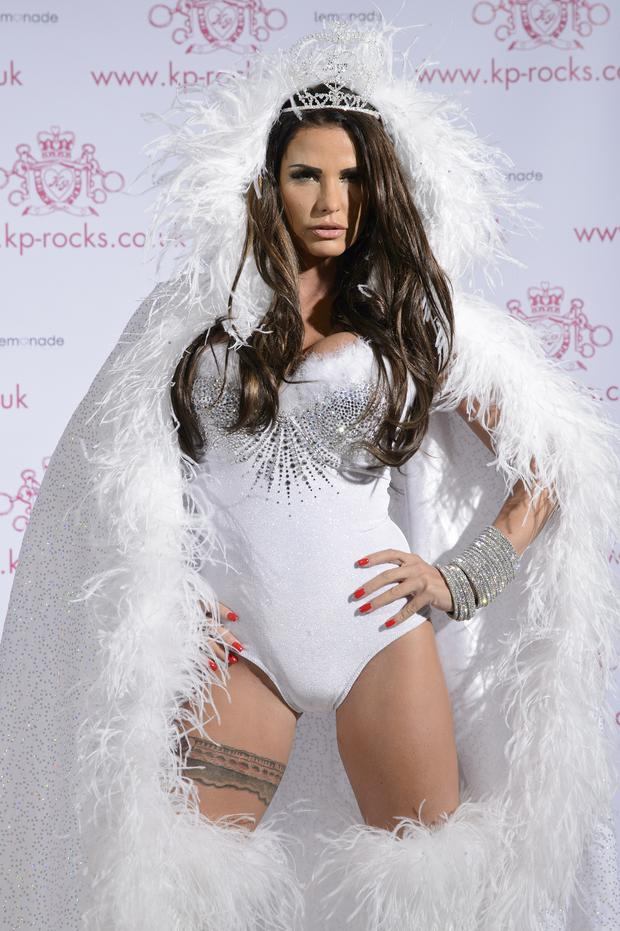 Less is more: Katie Price has had surgery to return her to a B cup