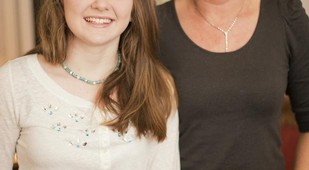 Always wary: Debbie Muldoon and daughter Lorna have to be vigilant about where they eat