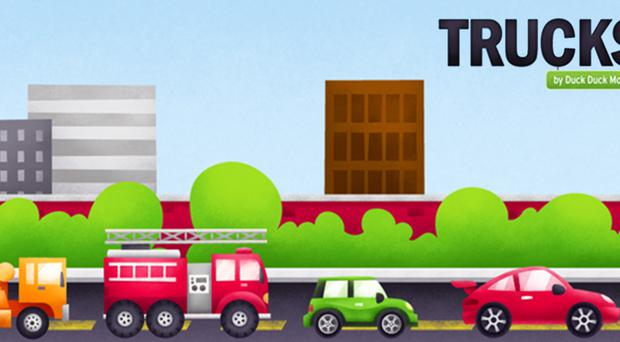 Child's play: Trucks from Duck Duck Moose teaches you all about cars